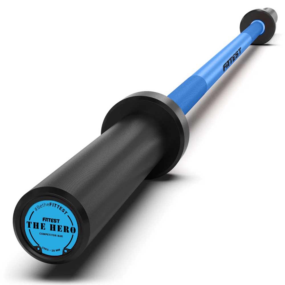 Barra Olímpica The Hero 20Kg na cor Azul - Fittest Equipment