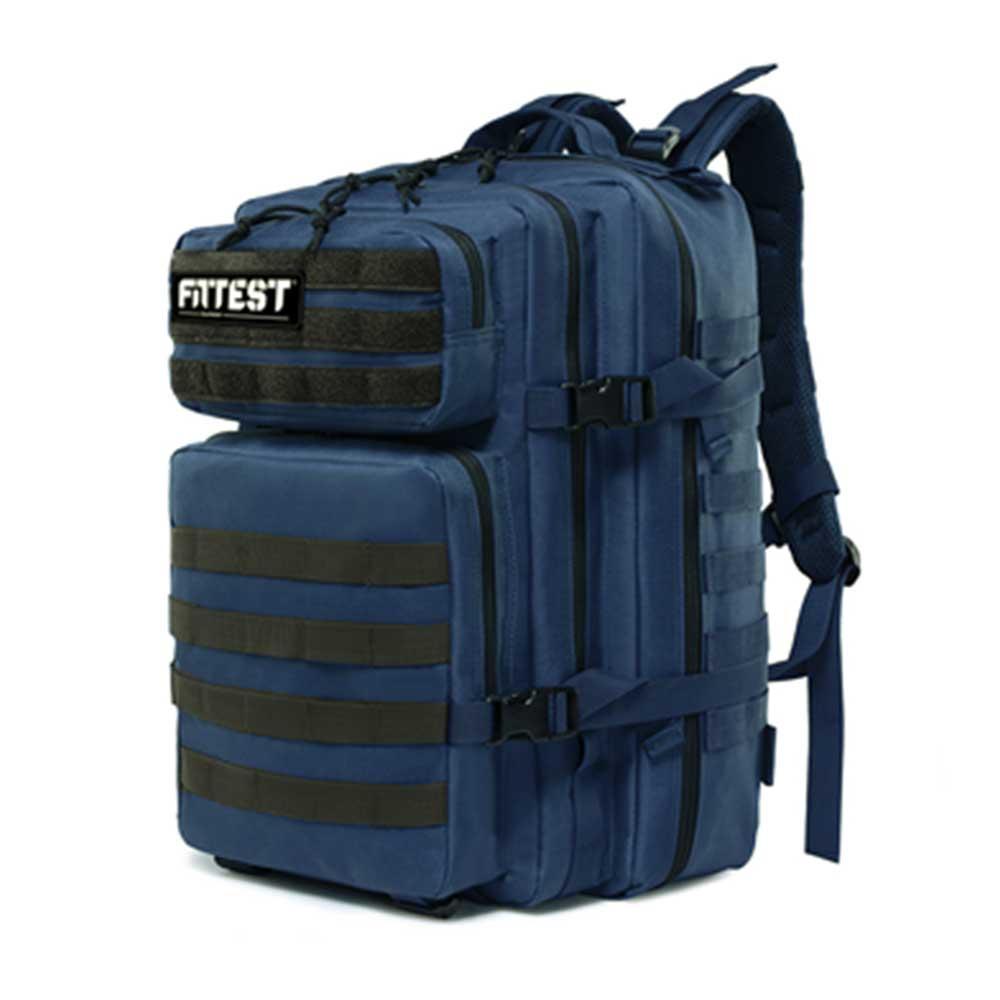 Mochila Tática 45L Azul e Preta Fittest Equipment